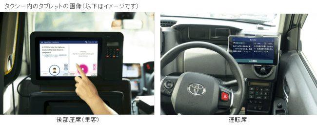 「POCKETALKⓇ」JapanTaxiの車載タブレットに採用