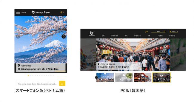 訪日外国人向けメディア「tsunagu Japan」リニューアル